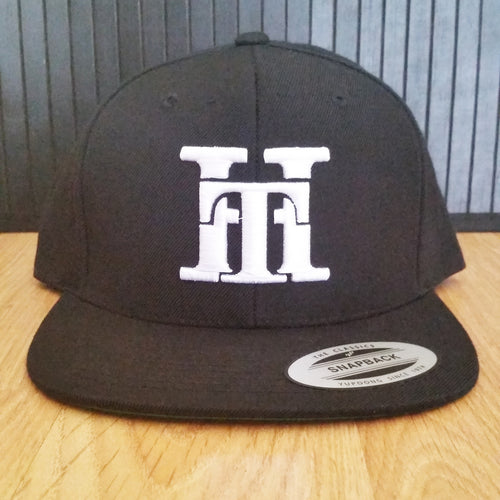 HT-HAT-BLACK (WHITE LOGO) SNAPBACK