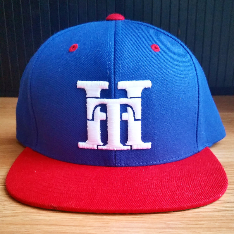 HT-HAT-ROYAL BLUE/RED-(WHITE LOGO) SNAPBACK