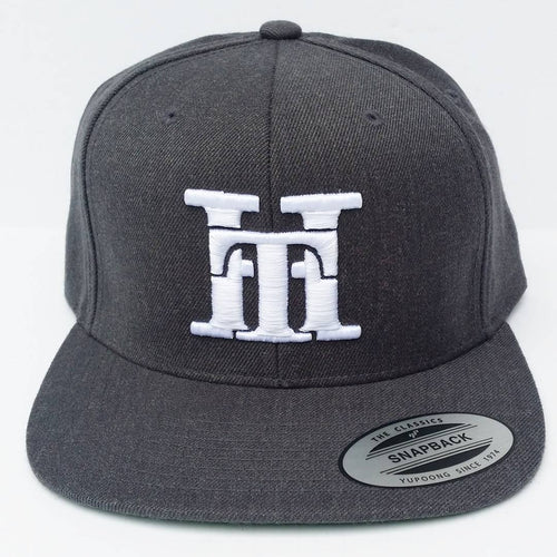 HT-HAT-GREY (WHITE LOGO) SNAPBACK