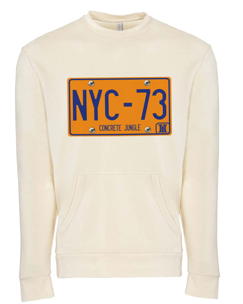 NYC73-VINTAGE LICENSE PLATE-POCKET SWEATER