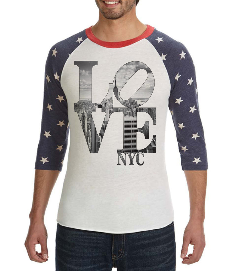 LOVE NYC-3/4 RAGLAN STARS