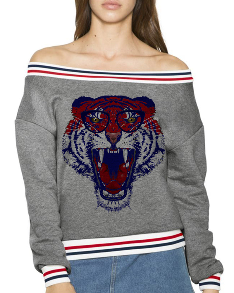 TIGER-IMPERIUM-WIDE COLLAR SWEATER