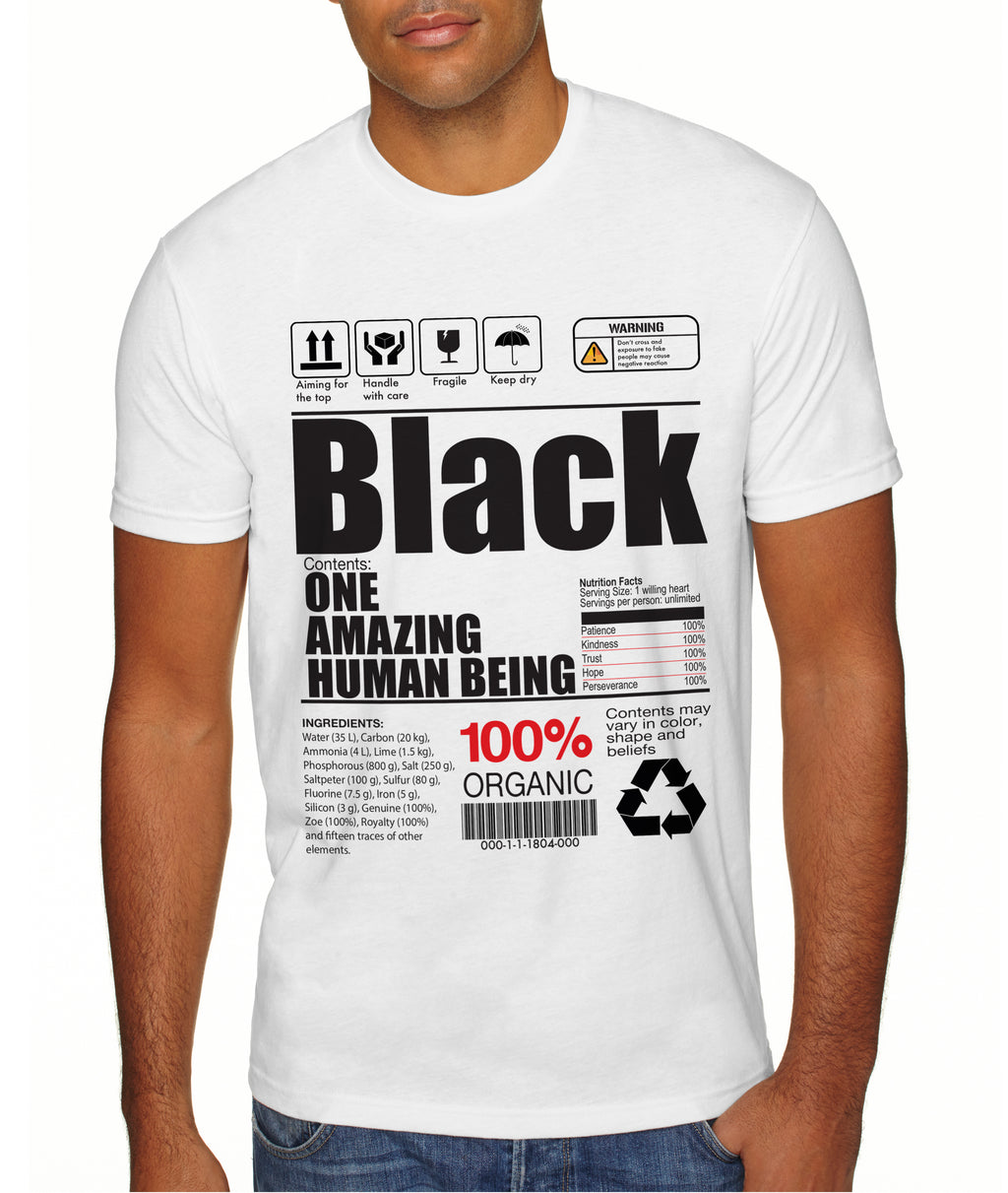 BLACK-AMAZING HUMAN BEING-INGREDIENTS