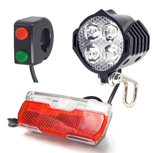 Electric Bike Front And Ebike Rear Light Set