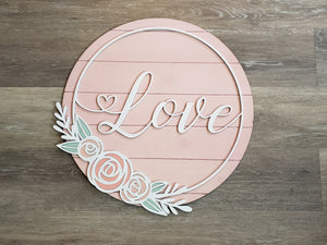 Round Love Sign SVG