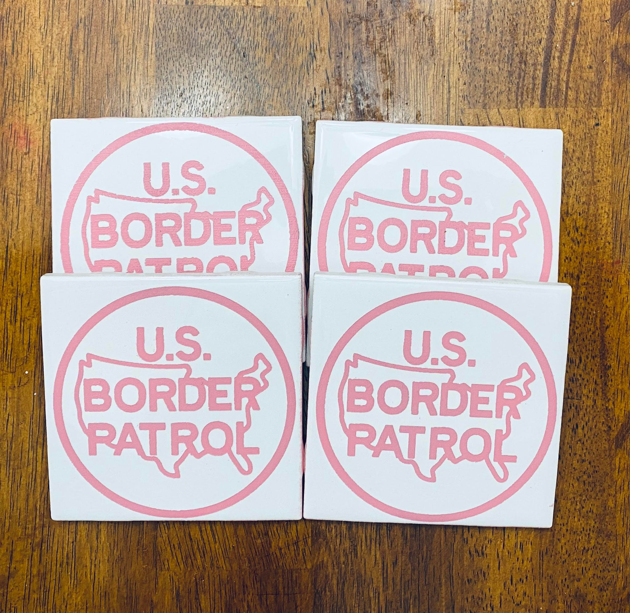 4 Piece Coaster Set (Border Patrol)