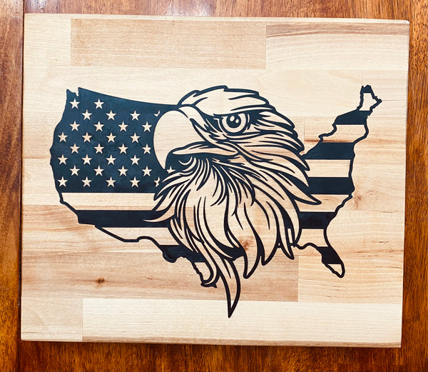 Eagle Flag Cutting Board (Free Shipping in USA)
