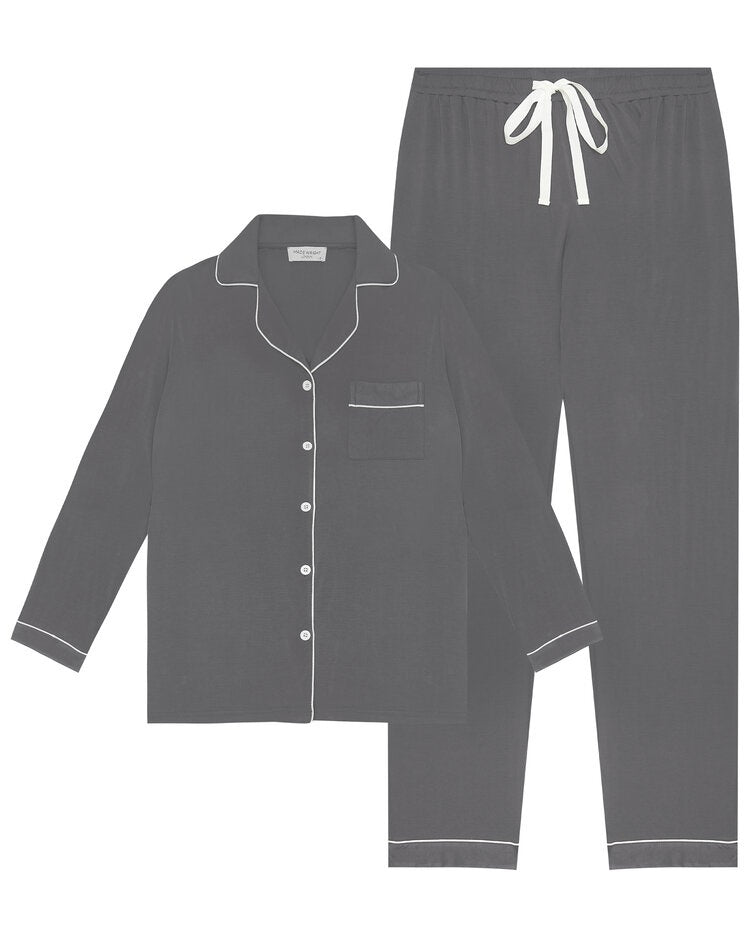 Made Wright London Bamboe Pyjama Set 2021 Charcoal Grey