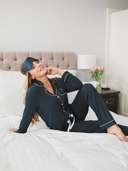 Made Wright London Bamboe Pyjama Set 2021 Navy