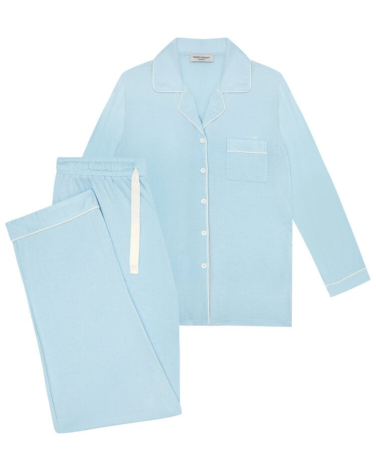 Made Wright London Bamboe Pyjama Set 2021 Powder Blue