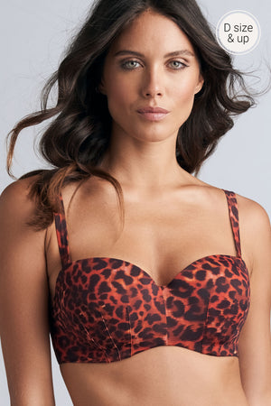 Marlies Dekkers Panthera Trapless Bikini Top 353301 Black and Red