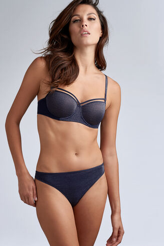 Marlies Dekkers Space Odyssey Balconet Bra 335644 Blue and Silver