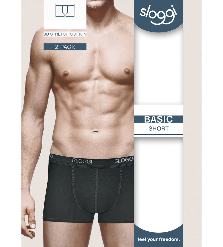 Sloggi Men Basic Short 2 Pack 10020415 black