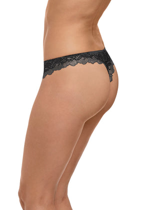 Wacol Lace Perfection String WE135007 New Black Diamond
