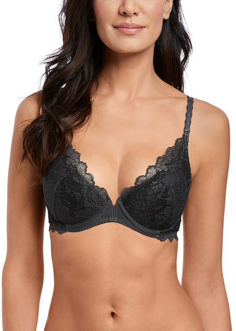 Wacol Lace Prefection Push Up Bra WE135003 New Black Diamond