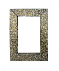 "34"" x 48"" x 4"" Bronze, Gravel-Like, Mosaic Frame - Dressing Mirror"