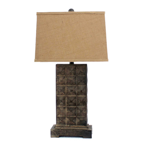 "4.75"" x 9.5"" x 29.5"" Brown, Vintage With Metal Pedestal"