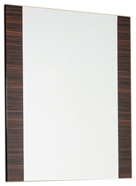 "45"" Ebony MDF  Glass  and Veneer Mirror"