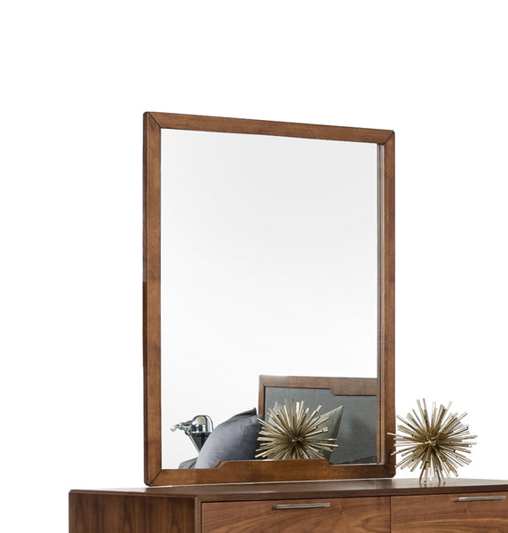 "40"" Walnut MDF  Veneer  and Glass Mirror"