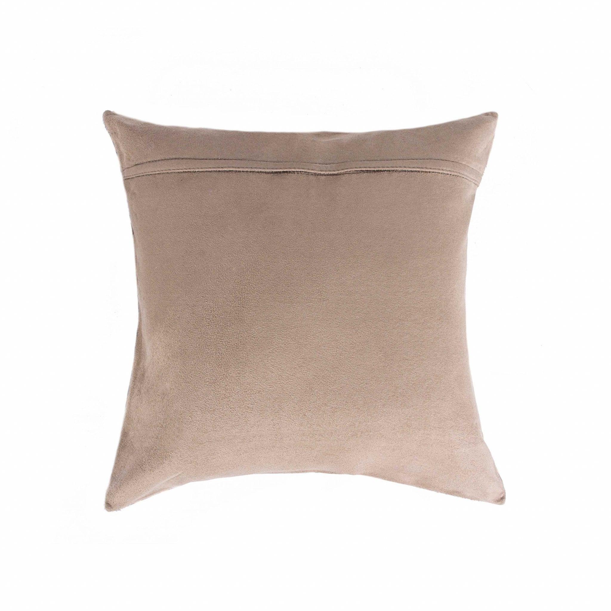 "18"" x 18"" x 5""  Brown And White Cowhide - Pillow"