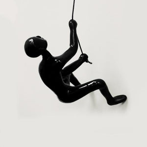 "3.5"" x 3.5"" x 5.5"" Black Climbing Man - Wall Art"