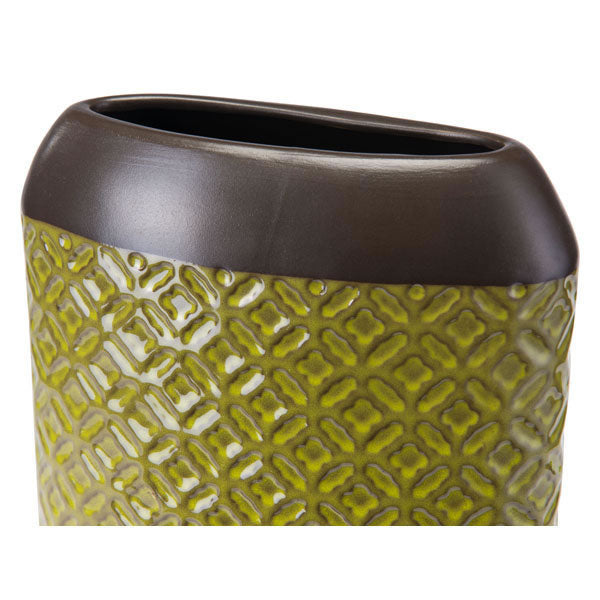"6.6"" X 3.3"" X 7.6"" Small Olive Green Square Planter"