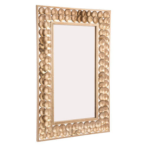 "21.9"" X 1"" X 34.1"" Mini Circles Gold Mirror"