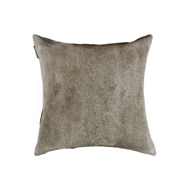 "18"" x 18"" x 5""  Gray Cowhide - Pillow"