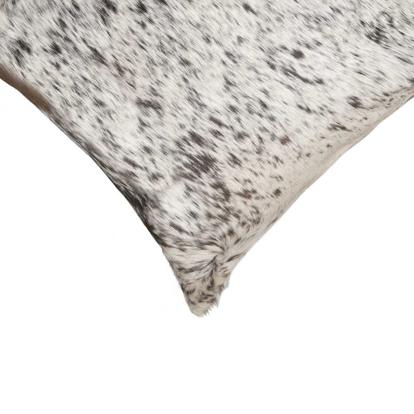 "18"" x 18"" x 5"" Salt And Pepper Gray And White Cowhide - Pillow"