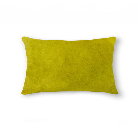 "12"" x 20"" x 5"" Yellow Cowhide - Pillow"