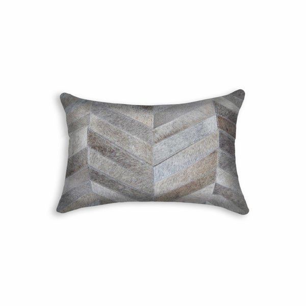 "12"" x 20"" x 5"" Grey - Pillow"