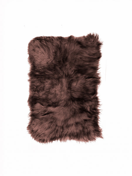 "48"" x 72"" x 2"" Chestnut Sheepskin Long-Haired - Area Rug"
