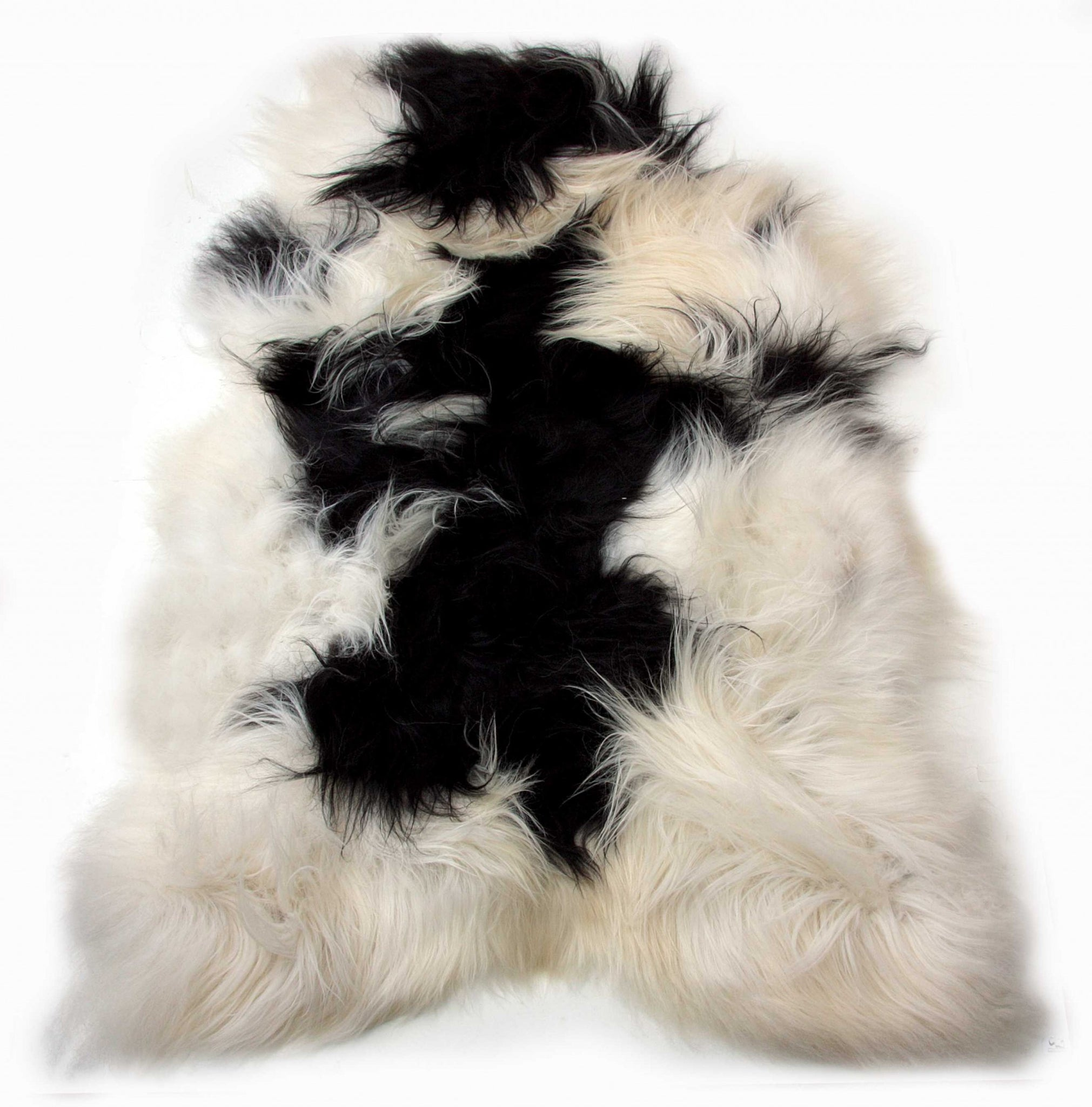 "24"" x 36"" x 1.5"" x 2"" Spotted Sheepskin Single Long-Haired - Area Rug"