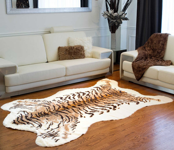 "63"" x 90"" Tiger Faux Hide - Area Rug"