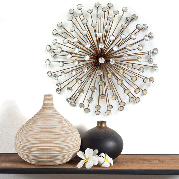 Bronze Acrylic Burst Metal Wall Decor