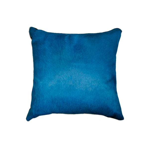 "18"" x 18"" x 5"" Blue Torino Kobe Cowhide - Pillow"