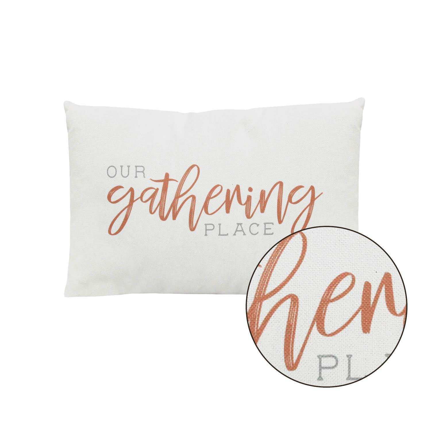 Our Gathering Place Lumbar Accent Pillow