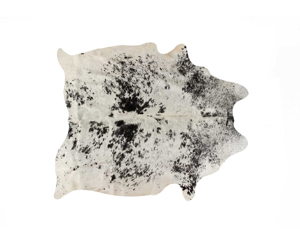 "72"" x 84"" White and Black Cowhide  Rug"
