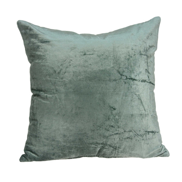 "18"" x 0.5"" x 18"" Transitional Sea Foam Solid Pillow Cover"