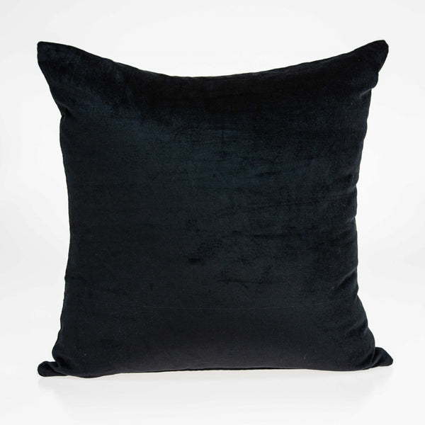 "20"" x 0.5"" x 20"" Transitional Black Solid Pillow Cover"
