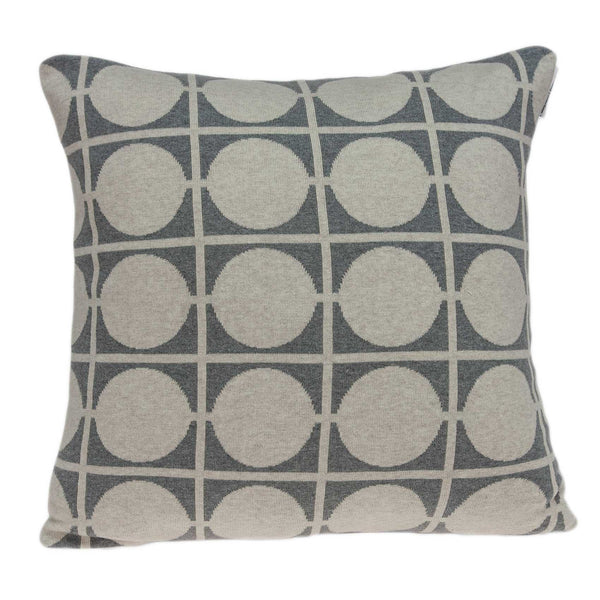 Geometric Design Tan and Grey Printed Pillow Cover