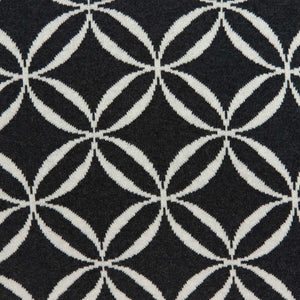 Geometric Design Black and White Cotton Pillow Cover