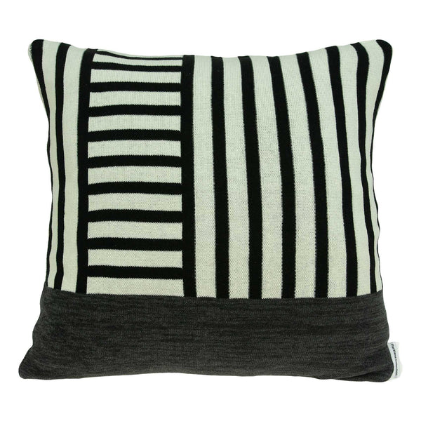 18 x 18 Modern Lines White and Black Accent Pillow Cover