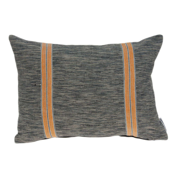 Dark Grey and Orange Accent Pillow Cover
