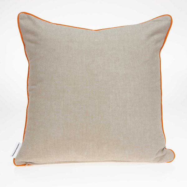 "20"" x 0.5"" x 20"" Transitional Cool Multicolor Cotton Pillow Cover"