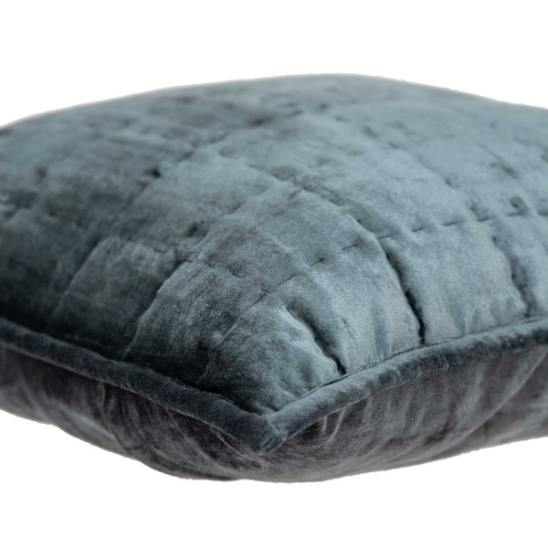 Super Soft Charcoal Solid Quilted Pillow Cover