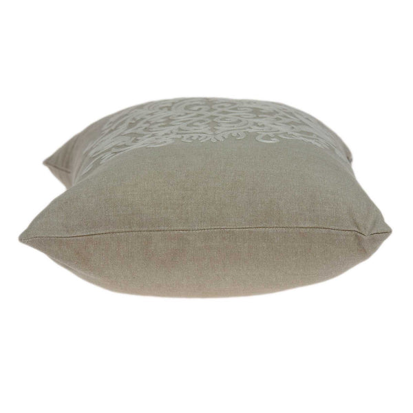 "20"" x 0.5"" x 14"" Elegant Transitional Beige Cotton Accent Pillow Cover"