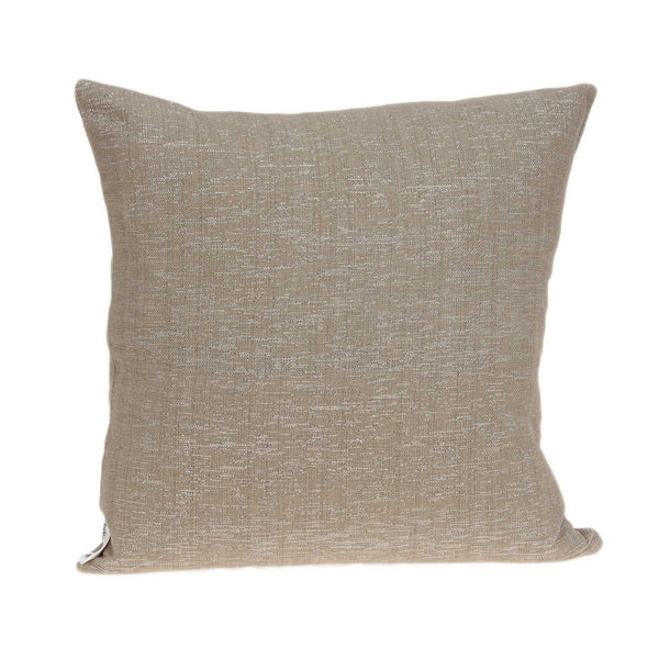 "20"" x 0.5"" x 20"" Elegant Transitional Tan Pillow Cover"