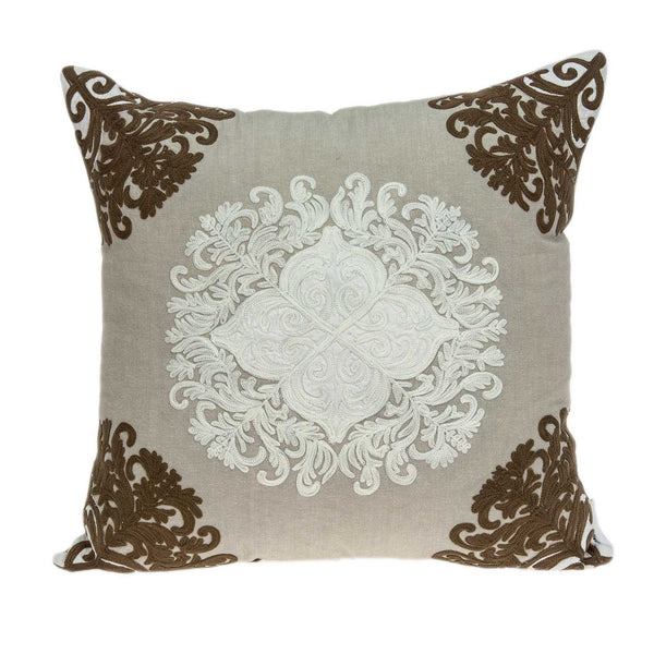 "20"" x 0.5"" x 20"" Traditional Beige Pillow Cover"
