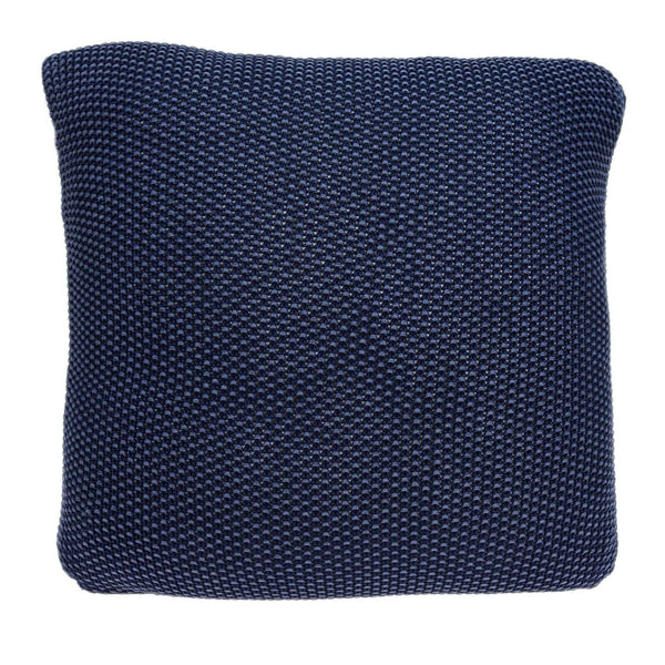 "18"" x 5"" x 18"" Transitional Blue Pillow Cover With Poly Insert"
